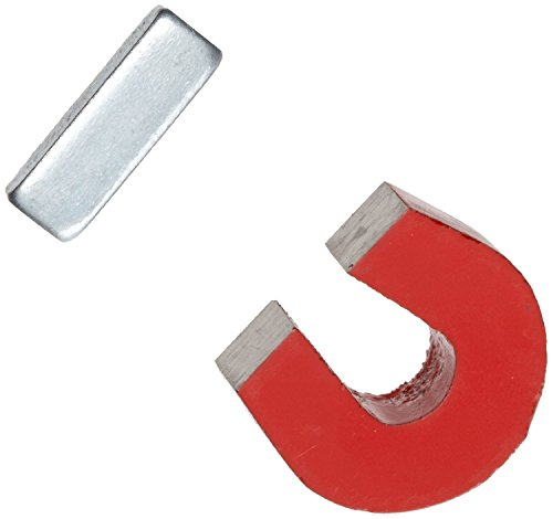 (AOMAG Red Cast Alnico 5 Horseshoe Magnet With Keeper, 1.133