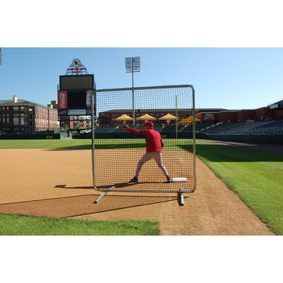 Trigon Sports Procage Premium 1st Base/Fungo Protective Screen with Net, 7 x 7-Feet by Trigon Sports