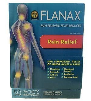 Flanax Pain/fever Reducer Tablets 220mg - 50 Packets 1 Tablet PER Packet (220 Mg Tab)