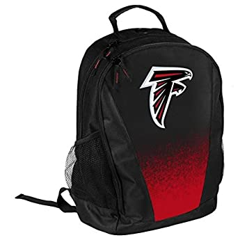 FOCO NFL Atlanta Falcons Logo Gradient Print Primetime Deluxe Backpack, Team Color, Standard, One Size