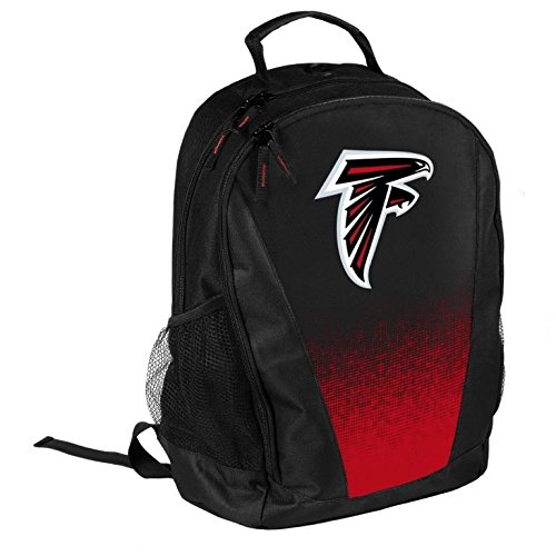 FOCO NFL Atlanta Falcons Logo Gradient Print Primetime Deluxe Backpack, Team Color, Standard, One Size
