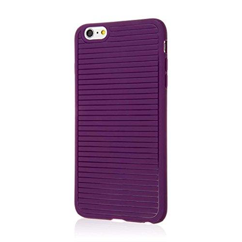 EMPIRE Apple iPhone 6 Plus / iPhone 6S Plus Case, GRUVE Slim-Fit Anti Shock Protection Cover, Purple Anti Shock Protection