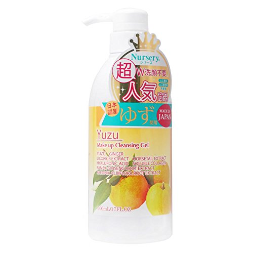 Yuzu W Cleansing Gel By Nursery for Women Cleanser, 16.9 Ounce (500ml) Cleansing Gel Makeup Remover