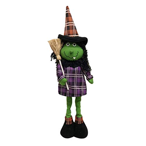 Halloween Doll Witch (Aitey Halloween Dolls, Stretchable Decor Witch Plush Doll, Halloween Party Supplies Favors for Kids Gift Home, Bedroom Ornaments)