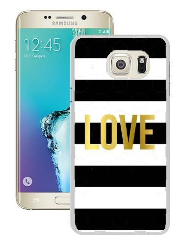 Personalize Samsung Galaxy S6 Edge Plus Cases - Black and White Stripes Love Hard Plastic Phone Cell Case for Samsung Galaxy S6 Edge Plus