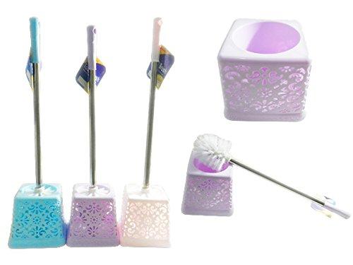 Toilet Brush, 5.5'' sq x 21'' L Blue, Purple, Beige , Case of 48