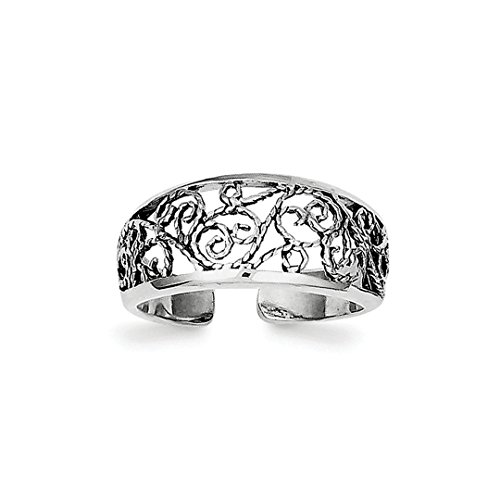 Floral Wrapped Gemstone - ICE CARATS 925 Sterling Silver Floral Adjustable Cute Toe Ring Set Fine Jewelry Ideal Gifts For Women Gift Set From Heart