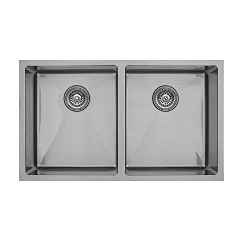 - Elite EL-76 Double Equal Undermount Bowl Sink