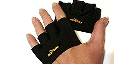 Zerosara Fingerless Weightlifting Gloves with Non-Slip Crosilicone Palms Provide Support for Gym Workouts, Fitness, Kettlebell, Yoga, and WOD