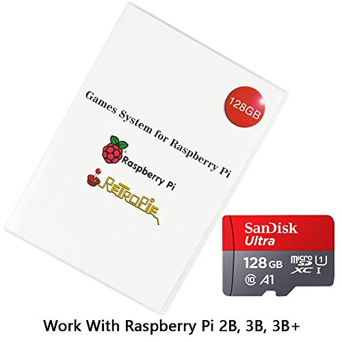 Retropie Preloaded 128GB Games Plus Data with Micro SD TF Card for Raspberry Pi 2B, 3B, 3B+ Loaded Collection with Video Previews & 3D Boxart (Preloaded Micro Sd Cards)