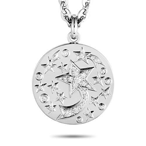 Chanel (Est.) Chanel 18K White Gold Diamond Pave Pendant Necklace ()