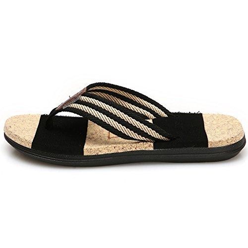 GESIMEI Verano Playa Chanclas Zapatos de Piscina Cómodo Caucho Sandalias Mujer Negro