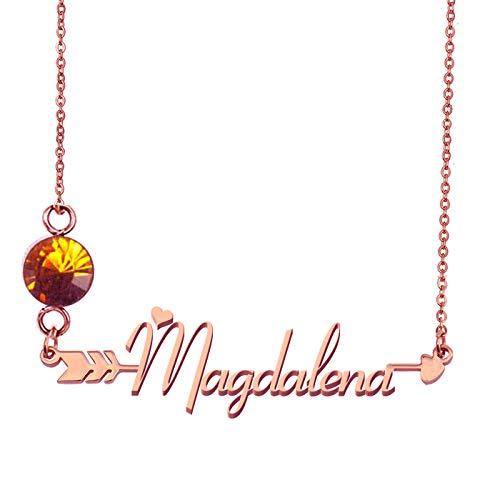 HUAN XUN Custom Everyday Pendant Name Necklace for Grandmother Magdalena