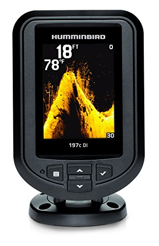 Humminbird 409690-1 PiranhaMax 197C DI Color Fish Finder with Down-Imaging (Grey) ()