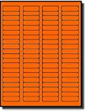 1,600 Label Outfitters® Fluorescent Neon Orange Color LASER ONLY Labels,1.75 x 0.5, 20 Sheets (Same size as Avery 5267)