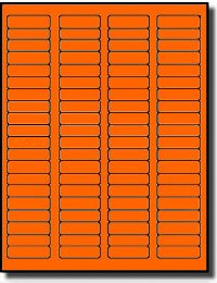 (8,000 Label Outfitters Fluorescent Neon Orange Color LASER ONLY Labels,1.75 x 0.5, 100 Sheets)