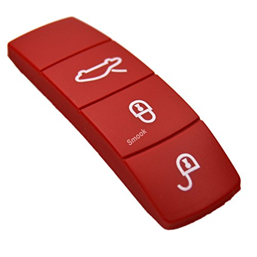 Key Color Center Middle Trim Shell Cover Decal + Rubber Button Pad for Porsche 911 918 Panamera Macan Cayenne Cayman Boxster ()