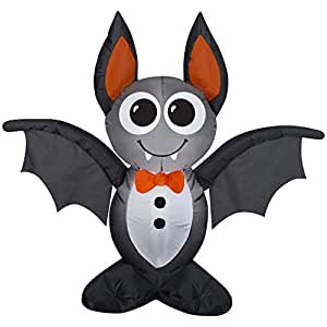 Halloween Pumpkin Airblown Inflatable Bat 3.5 Feet