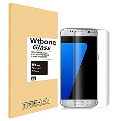 Samsung Galaxy S6 Edge Screen Protector, Wtbone 3D Tempered Glass Screen Film, Ultra Thin 0.25mm, Super HD Clear, Anti-Scratch, Easy Installation HD Ultra Clear (Crystal Clear)