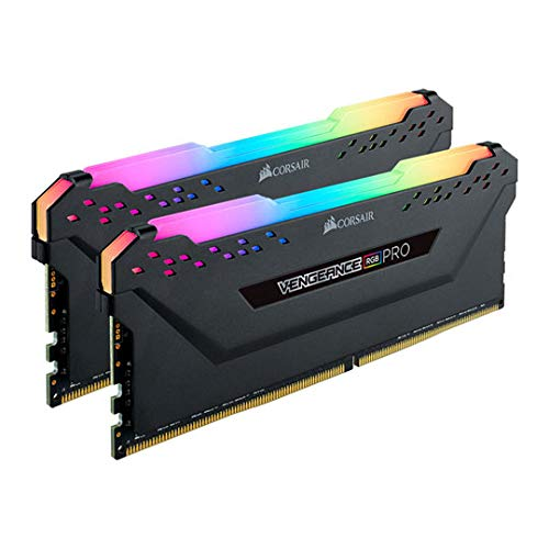 CORSAIR Vengeance RGB PRO 64GB (2x32GB) DDR4 3200 (PC4-25600) C16 Desktop Memory-Black