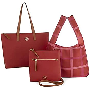 Chic Crossbody with Shopper Tote 3 Pieces JOY Luxe Genuine Leather Handbag