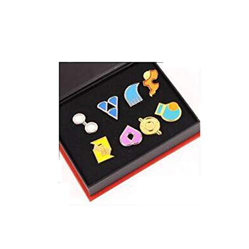 Pins Red Hat Jewelry (Pokemon Gym Badges Set of 8PCS (Red))