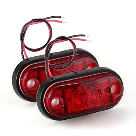 CALAP-STORE - 2 x Bombilla LED Lmfor Luz Lateral Rojo Piraa for Coche Camiones - - Amazon.com