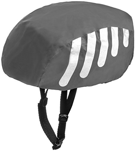Bike Helmet Cover - Wealers High Visibility Waterproof Helmet Cover For Bike / Bicycle with Reflective Stripes - Adjustable Fit One Size Fits Most (Black)