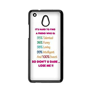 HOT phone cases, Generic Design For You The Meaning For Best Friends Pattern black plastic case For HTC One Mini at Run horse store