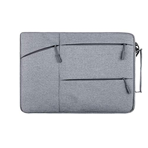 11 in Canvas Laptop Carrying Sleeve, 11.6 in Travel Zipper Chromebook Case Bag for Iconia 11.6 | TravelMate 11.6 | Aspire Switch 11 | iPad Pro 11 | Transformer Book | Miix 2 11 (11-11.6 Inch, Grey)