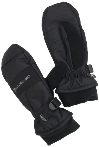 (Carhartt Men's W.P. Waterproof Insulated Mittens, Black, Large)