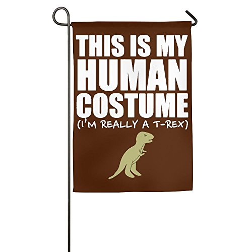 LLiYing-D This Is My Human Costume I'm Really A T-REX Printed Holiday Flag
