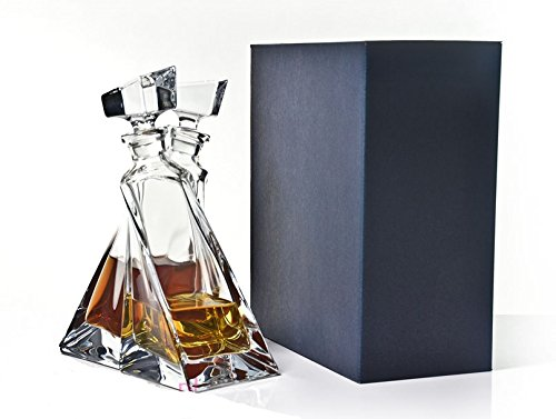 Clear, Transparent Crystal Glass Entwined Lovers Spirits Set | 2 Decanters 500ml Each| Perfect Gift Solavia