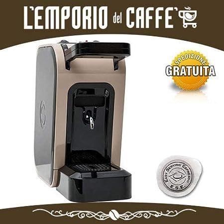 Spinel Ciao - Cafetera de monodosis ESE de 44 mm, filtro de papel + kit de preparación Emporio del café (gris): Amazon.es: Hogar