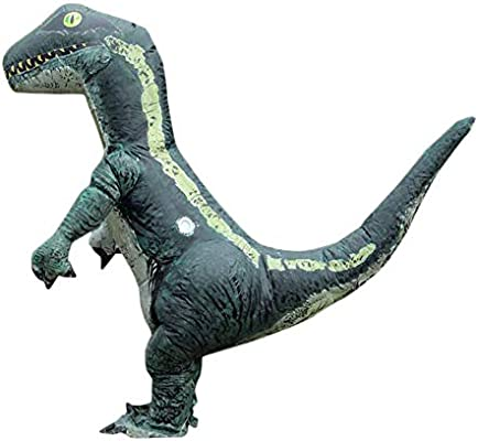 KiGoing traje inflable, dinosaurio T-Rex Cosplay disfraz Halloween ...