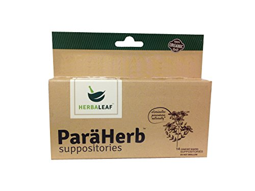 (ParaHerb Suppositories by Herbaleaf:: 100% Natural:: 14 Comfort Shaped Suppositories :: Black Walnut, Wormwood, Garlic, Cloves, Oregano, Peppermint)