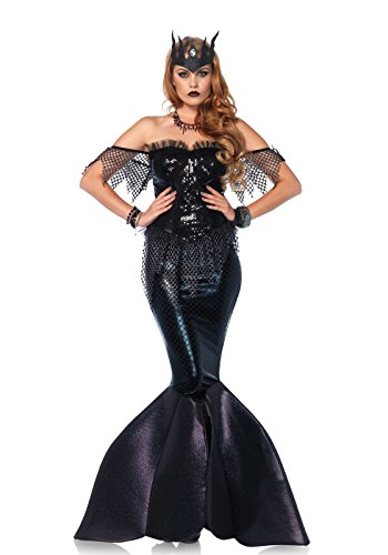 Leg Avenue Women's Dark Water Mermaid Siren Costume,