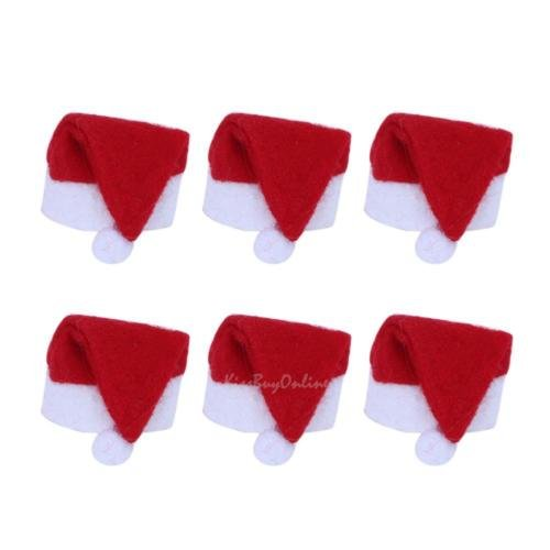 S&M TREADE-6pcs Mini Santa Claus Hat Christmas Holiday Lollipop Tops Topper Xmas Tree Decor
