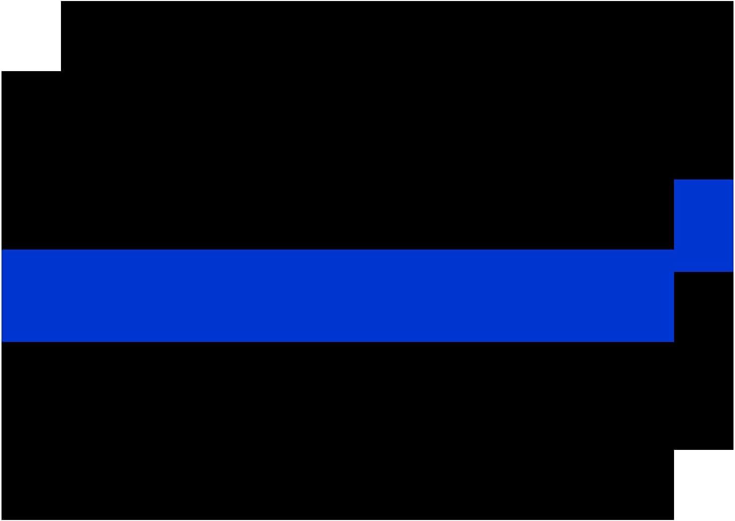 2 Pack Thin Blue Line Blue Lives Matter Bumper Sticker Decal for Laptop Car Bumper Window Decorations,Vivid Color and UV Fade Resistant Diameter 4×6