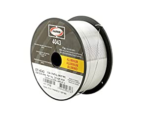 "Harris 04043D1 4043 Aluminum MIG Welding Wire, 0.025"" x 1 lb. Spool by The Harris Products Group"