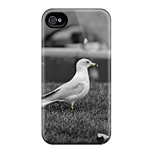 For Iphone 4/4s Premium Tpu Case Cover Animals Birds Seagulls Protective Case