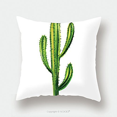 Custom Satin Pillowcase Protector Cactus Isolated On A White Background 332204801 Pillow Case Covers Decorative by chaoran