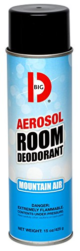 Big D 426 Aerosol Room Deodorant, Mountain Air Fragrance, 15 oz (Pack of 12) - Industrial strength handheld air freshener ideal for restrooms, offices, schools, restaurants, hotels, (Aerosol Room Deodorant)