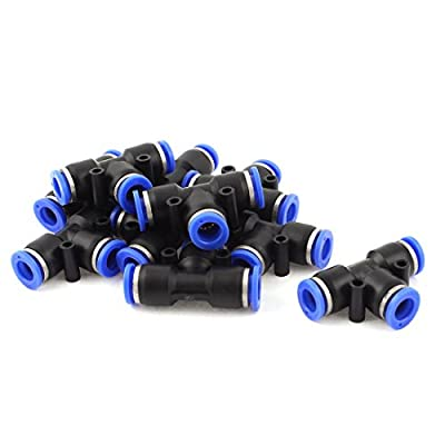 3 Way Tee Push In Pneumatic Quick Release 10mm Tube Fittings 10 Pcs