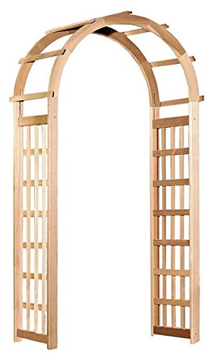 Arboria Glendale Garden Arbor Cedar Wood Over 7ft High With Arch Design by Arboria