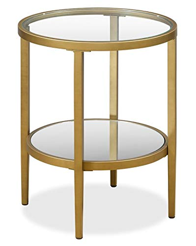 Amazoncom Handcrafted Steel Frame End Table End Table With Glass