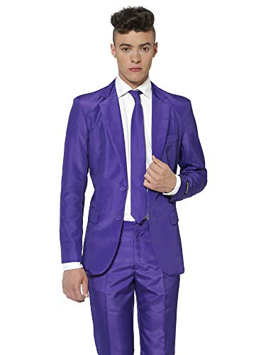 Suitmeister Solid Colored Suits - Purple - Includes Jacket, Pants & TiE -