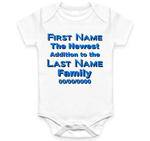 - Personalized Newest Addition to the Family Custom Bodysuit Keepsake Boy or Girl (New born)