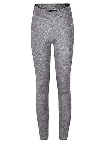 Romacci Women Sports Yoga Leggings Solid Wide Waist Sportswear Fitness Skinny Bodycon Pants Trousers by Romacci (Image #5)