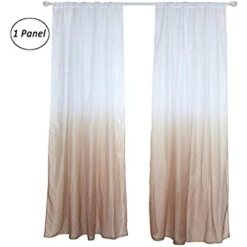 Amazon Com Brown Ombre Sheer Voile Room Door Window